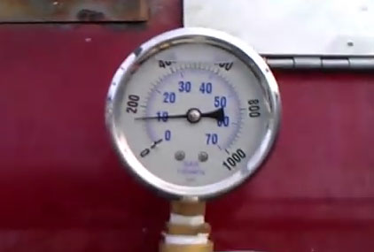 Correct Ice Dam Steaming Pressure