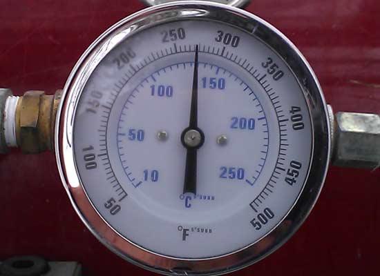 Correct Ice Dam Steaming Temperature