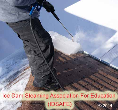 Experts Recommend Ice Dam Steaming