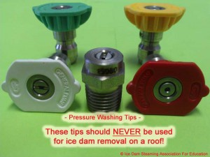 Do Ice Dam Steamers Have Colored Plastic Tips
